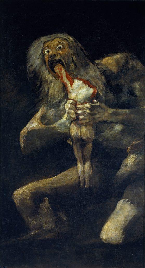 Obraz Francisca Goyu Saturn požierajúci svojho syna
