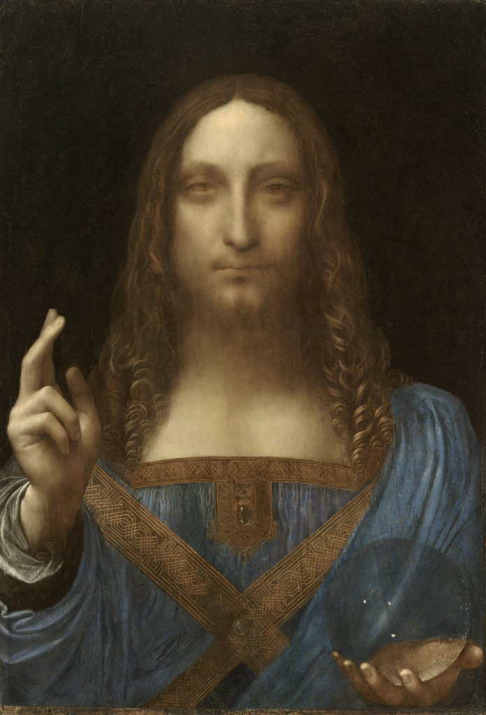 Obraz Leonarda da Vinciho Salvator Mundi