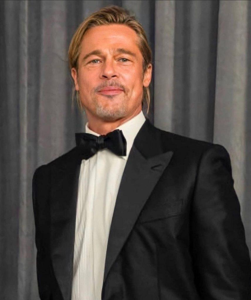 Brad Pitt na odovzdávaní Oscarov